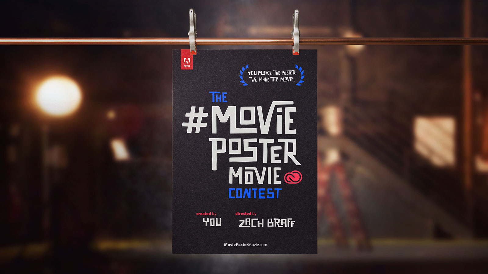 design a cool movie poster and zach braff will make a movie for it